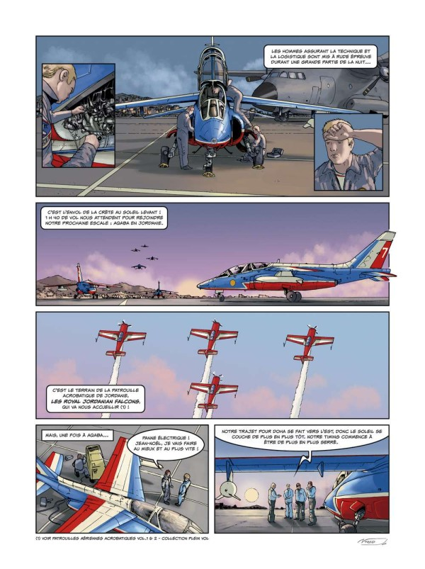 Page from a comic about pilots