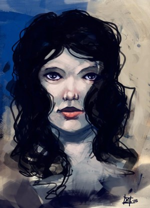 Lady with black hair