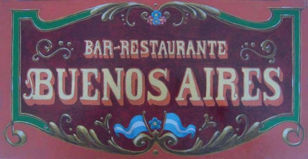 Sign for restaurant