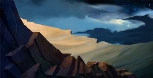 Las montañas y el cielo