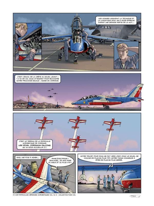 Página de un cómic sobre pilotos