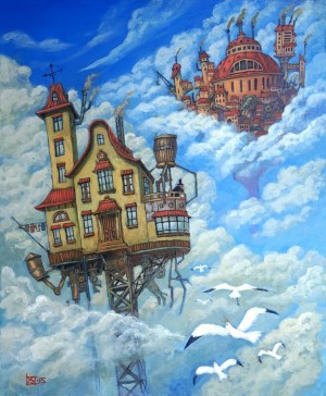 Houses in the clouds