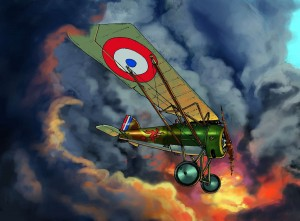 MORANE SAULNIER A1 with colour