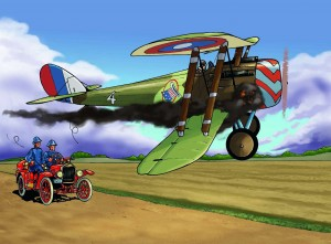 NIEUPORT 28 with colour