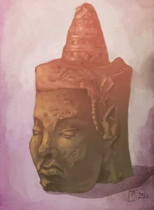Cambodian head